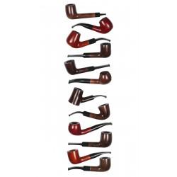 3T. Colección 12 Cachimbas madera «Jean Claude»