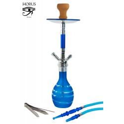 5T. 59 cm. Shisha «HORUS» azul cristal  con 1 boquilla