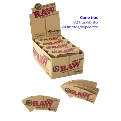 4T. Display with 24 booklest of 32  «Raw Cone Tips»