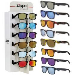3T. Expositor con 8 gafas del sol «Zippo» UV400 para 6 gafas de sol