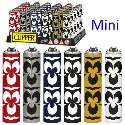 4T. Display with 30 Mini Clipper lighters with metal cover «OTTO»