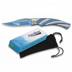 3T. Pocket knife «ALBAINOX» rainblue 7.5 cm