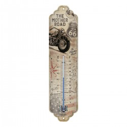 3T. «Route 66» Metal thermometer 28 x 6,5 cm.