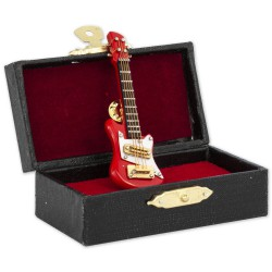 1T. Pin red electric guitar with case