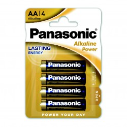 3T. Blister with 4 alkaline batteries Size M - 1,5V AA Panasonic Power LR6