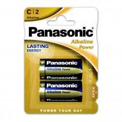 3T. Blister with 2 alkaline batteries Size L - 1,5V C Panasonic Power LR14