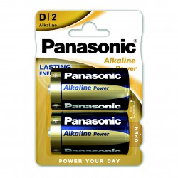3T. Blister with 2 alkaline batteries Size XL - 1,5V D Panasonic Power LR20