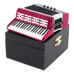 5T. Decorative miniature accordion. With case
