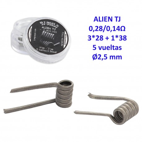 3T. Coils ALIEN TJ FULL NICHROME