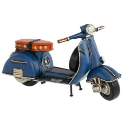 5T. Decorative metallic motorcycle «Vespa» blue in aged metal