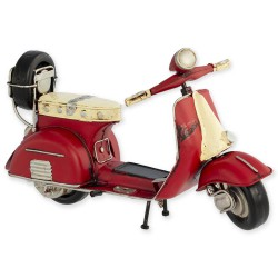 5T. Decorative metallic motorcycle «Vespa» red in aged metal