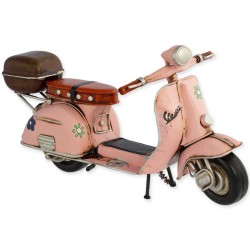 5T. Decorative metallic motorcycle «Vespa» pink in aged metal