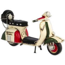 "5T. Decorative metal motorcycle «Vespa» ""Italy"" in aged metal"