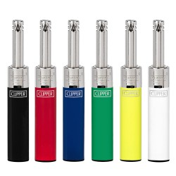 4T. Display with 24 Clipper piezo lighters «MINI TUBE» CLASSIC COLOURS