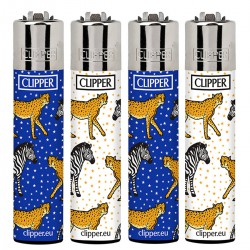 4T. Display with 48 Clipper lighters «LEOPARD»
