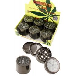 1T. Display with 12 metal grinders «Kañamero» 4 parts