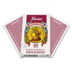 4T. «Fournier» spanish 40 cards 100% plastic  «Casino quality»