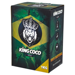 4T. Caja de 1 Kg. Carbón vegetal «KING COCO hexa»