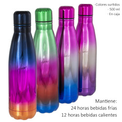 1T. Stainless steel cold / heat thermal bottle 500 ml