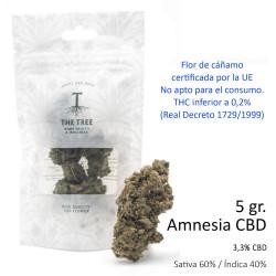 3T. CBD flower AMNESIA Bag 5 gr.
