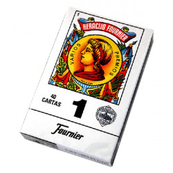 4T. Box with 12 «Fournier» spanish cards (1-40)