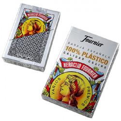 4T. «Fournier» spanish 50 cards 100% plastic «Casino quality»