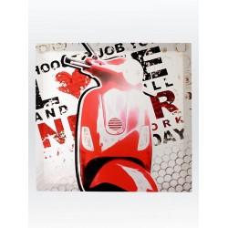 5T. Cuadro «Vespa» roja