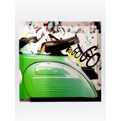 5T. Green seat «Vespa» painting