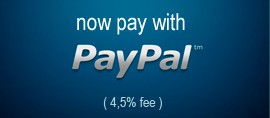 Paypal (4,5% fee)