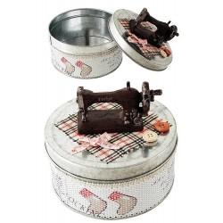 1T. Rustic metal sewing box
