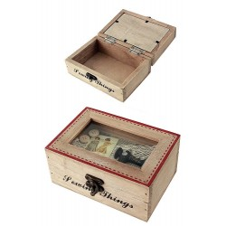 1T. Rustic wood Sewing box decorated