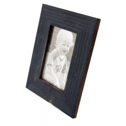 1T. Wood photo frames blue rustic finished