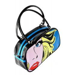 5T. «Girl face» black/blue bag