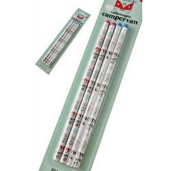 3T. Set of 4 pencils CAMPERVAN  «VOLKSWAGEN»