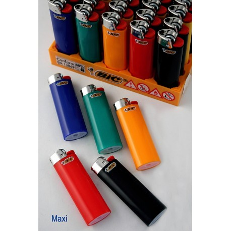 4T. Display with 50 lighters «BIC» Maxi «Opaque colors» assorted