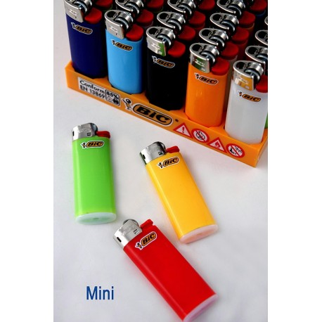 4T. Display with 50 lighters «BIC» Mini opaque colours assorted