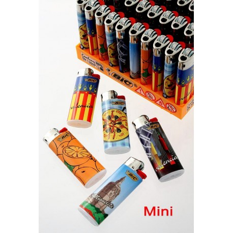 4T. Display with 50 lighters BIC Mini «Levante» assorted