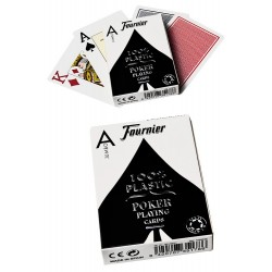 4T. «Fournier» poker cards 100% plastic
