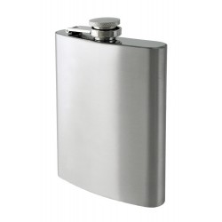 1T. 8 oz. Metallic flask plain