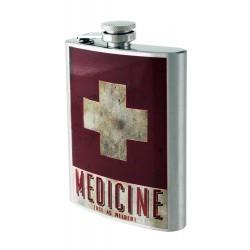 2T. 8 oz. Metallic flask cross. «Medicine»