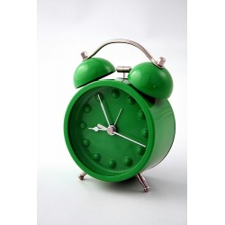 5T. Green med. alarm clock Gr.Dots