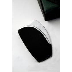 5T. Volcan Fire Piezo Lighter Black/Silver W/ Tg Case