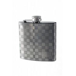2T. 6 oz. Metallic flask «Square» pattern drawing