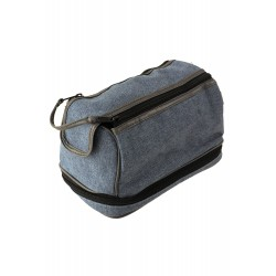 5T. Toilet-case with two floors and double zipper in denim