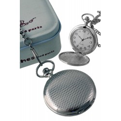 1T. Pocket hanging clock with diamonsd pattern. With metal case