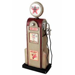 5T. Decorative petrol pump in aged metal.