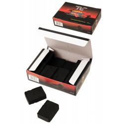 5T. Cubic briquettes hookah charcoal. Box with 200 gr (16 pcs)