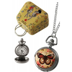 1T. Clock of hanging «Butterfly». In metallic case.