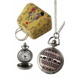 1T. Clock of hanging «Etnic». In metallic case.