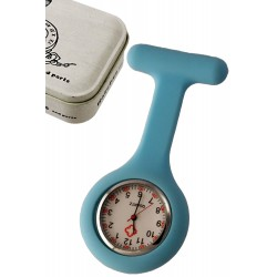 1T. Clock of hanging blue in silicone with safe «Nurse». In metallic case.